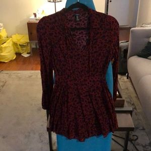 For we 21 pattern & merlot dress M